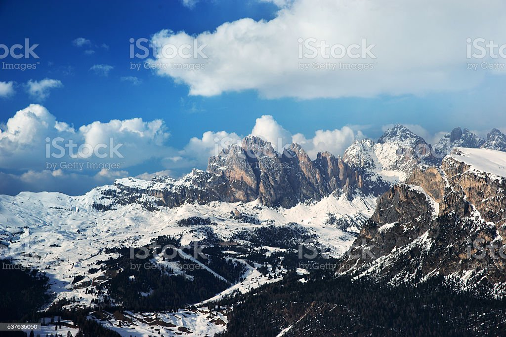 mountains on a spring sunny day stock photo