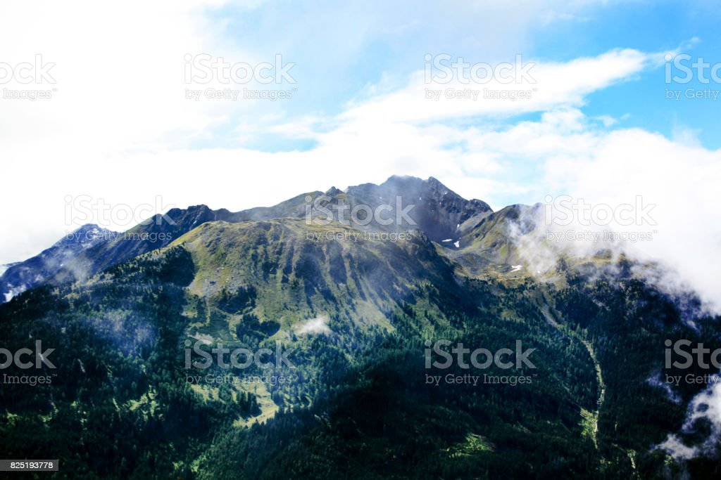Mountains on E5 Tour stock photo