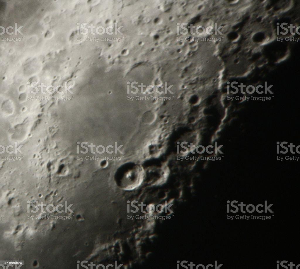 Mountains on the Moon stock photo