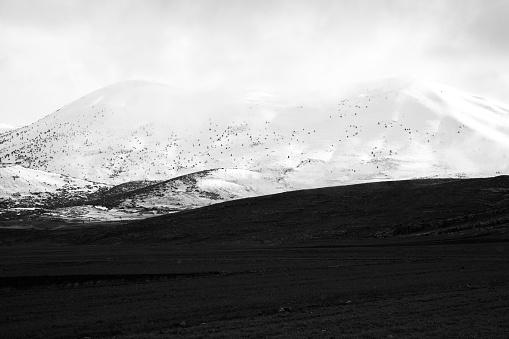 istock Mountains on winter 1004463326