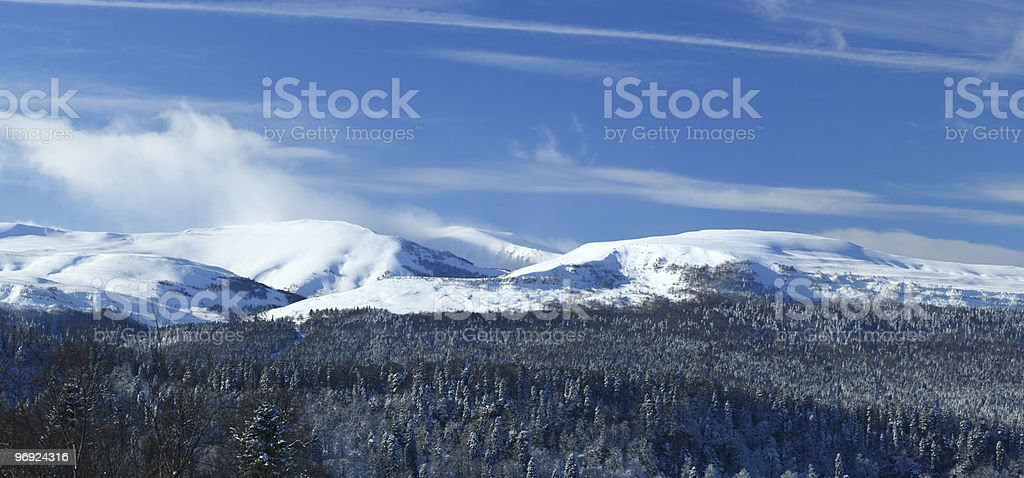 Mountains, panorama. North Caucasus royalty-free stock photo