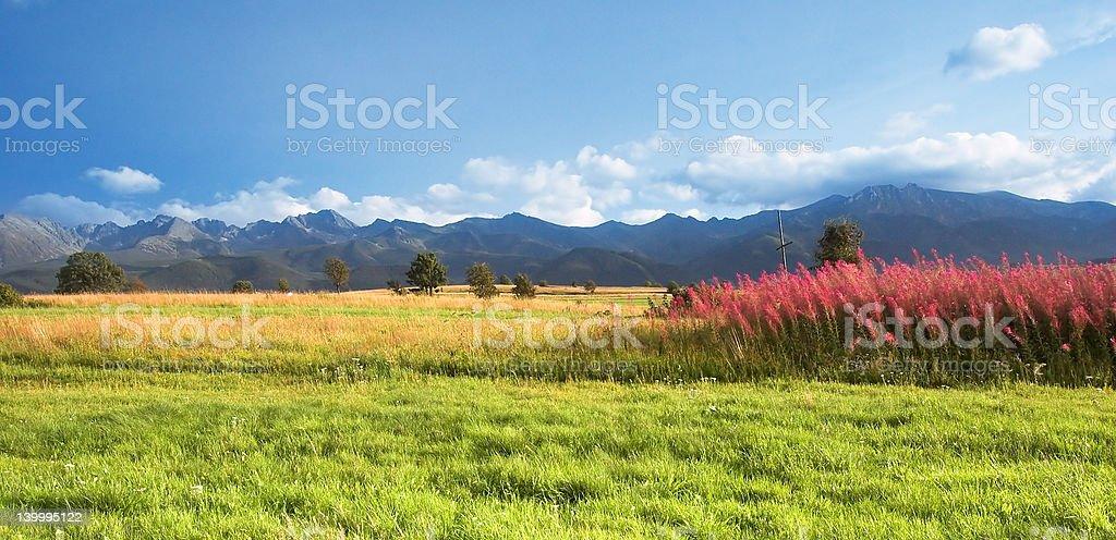 Mountains panorama royalty-free stock photo
