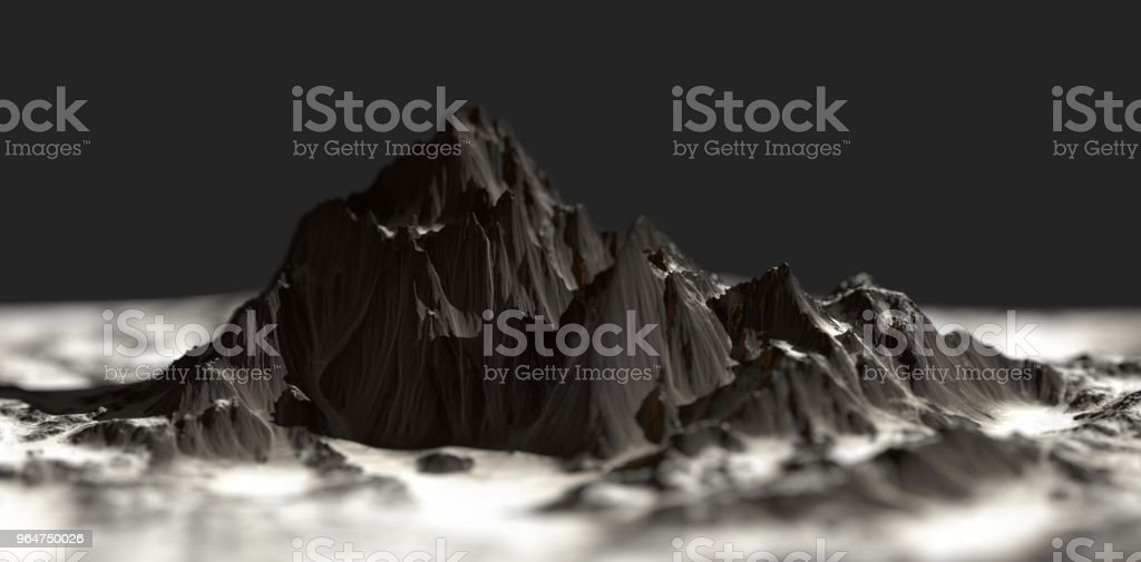 3D Mountains royalty-free stock photo