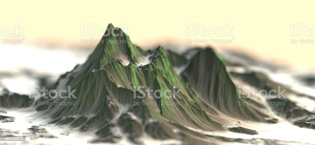 3D Mountains royalty-free stock photo