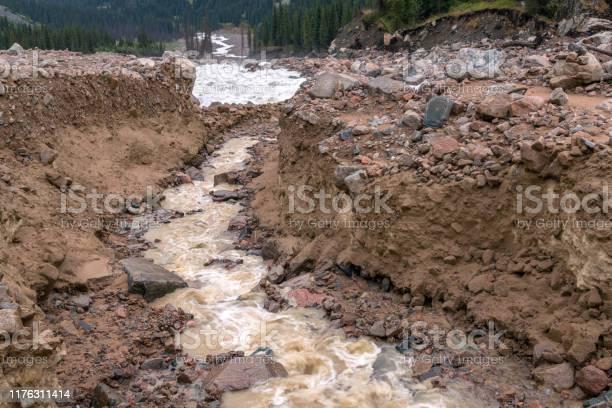 Photo of Mountains River Mudflow Danger