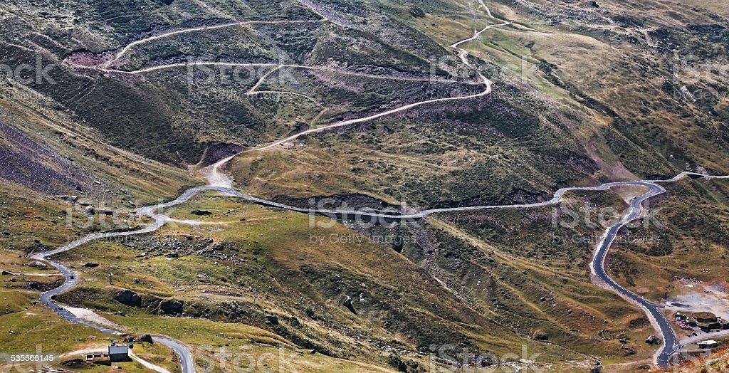 Mountains roads stock photo