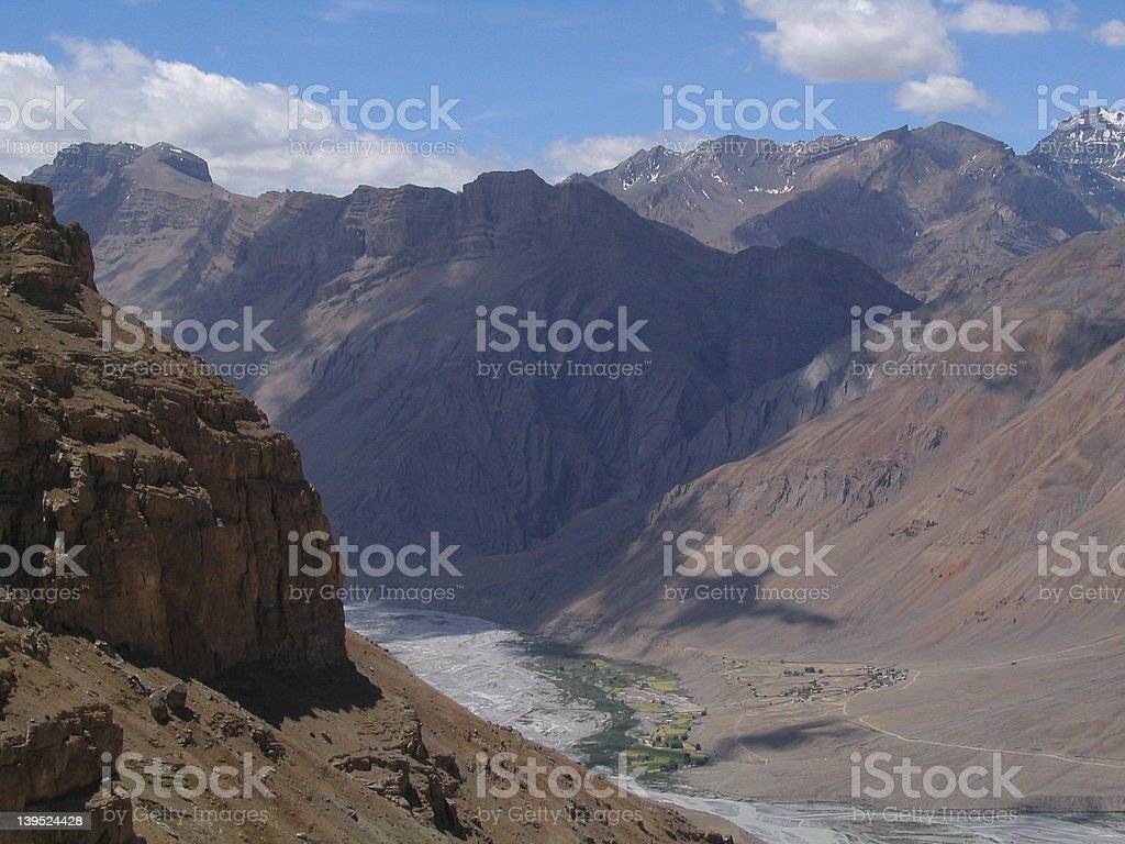 Mountains, Rocks and dust royalty-free stock photo