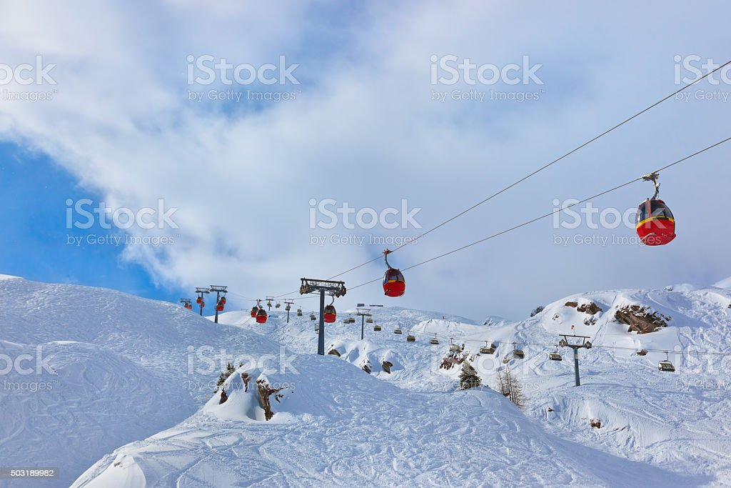 Mountains ski resort Austria stock photo