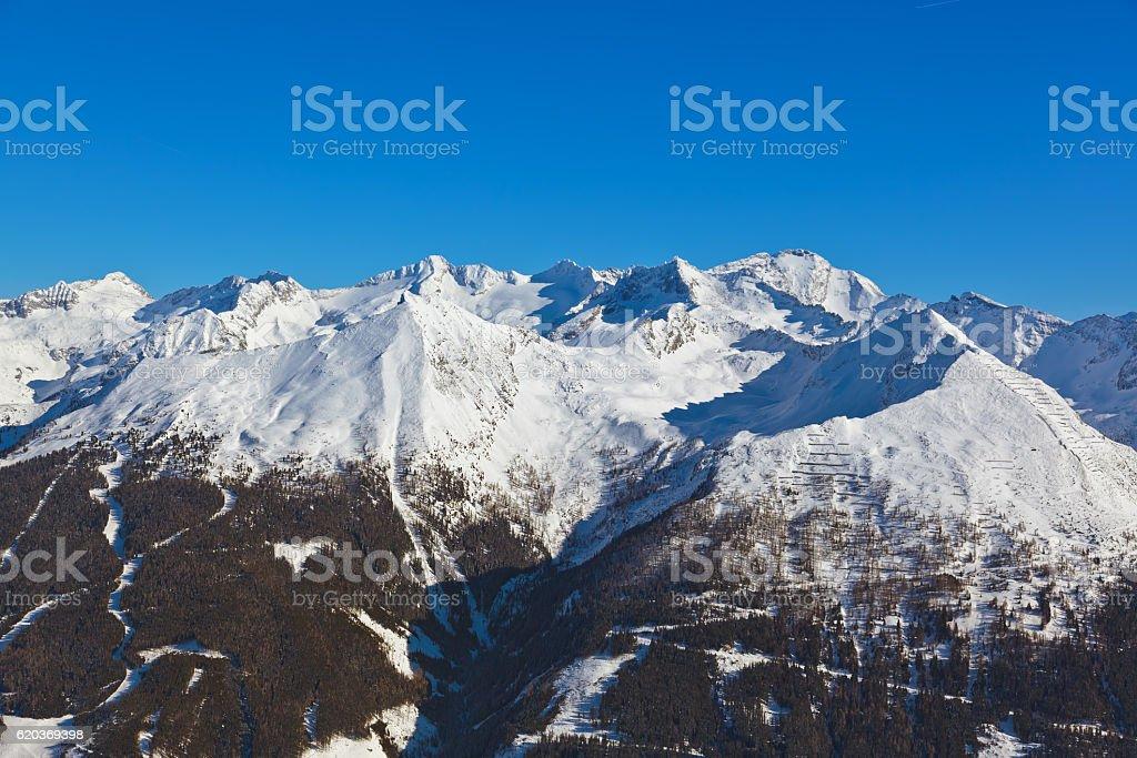 Góry ski resort Bad Gastein-Austria zbiór zdjęć royalty-free
