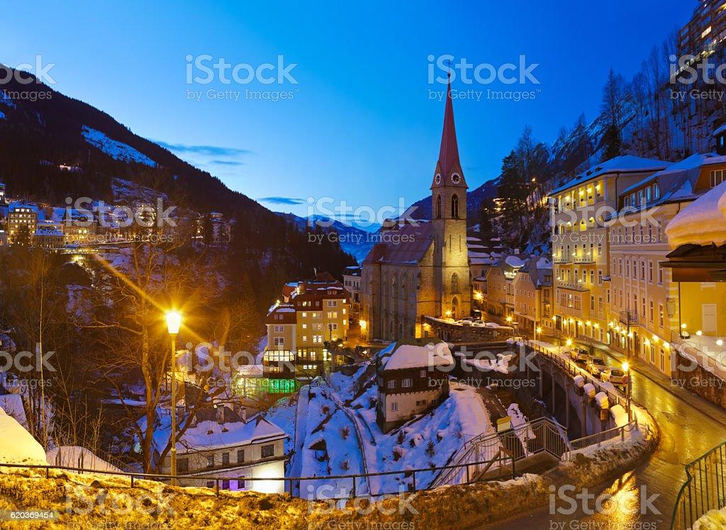 Montanhas Estância de Esqui mau Gastein Áustria foto de stock royalty-free