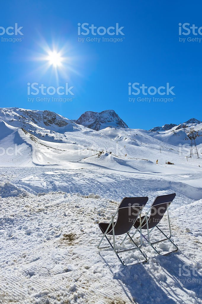 Montanhas ski resort-Innsbruck Áustria foto de stock royalty-free