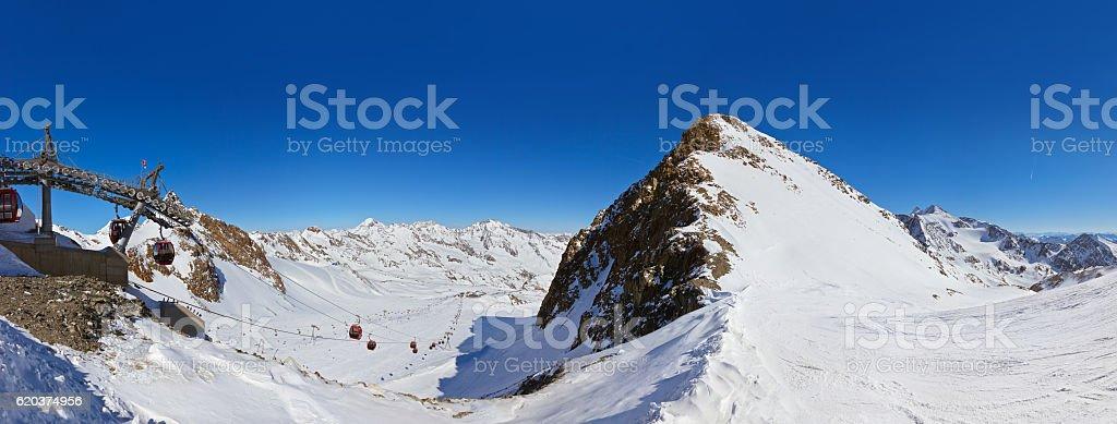 Góry ski resort-Innsbruck Austria zbiór zdjęć royalty-free
