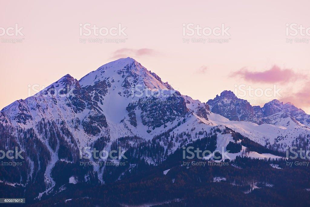 Montanhas Estância de esqui na Áustria Innsbruck foto de stock royalty-free