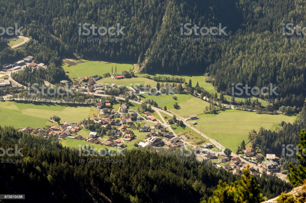 Mountains, valley and peaks landscape, natural environment. Hiking in the alps. Tirol, Austria, Europe stock photo