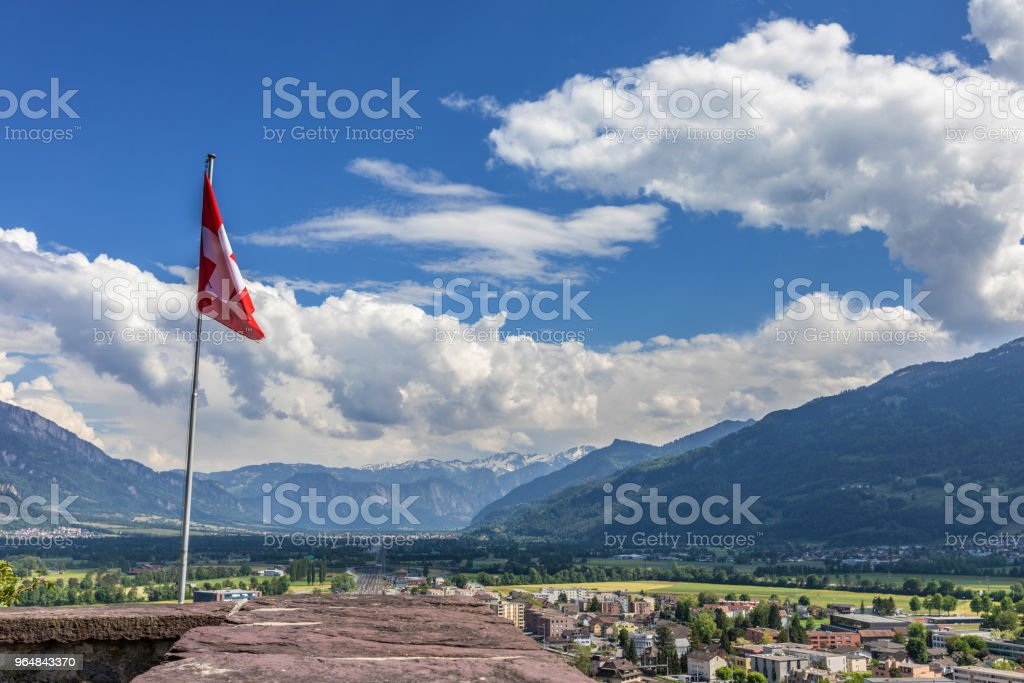 Mountains view in Alps. Swiss landscape royalty-free stock photo