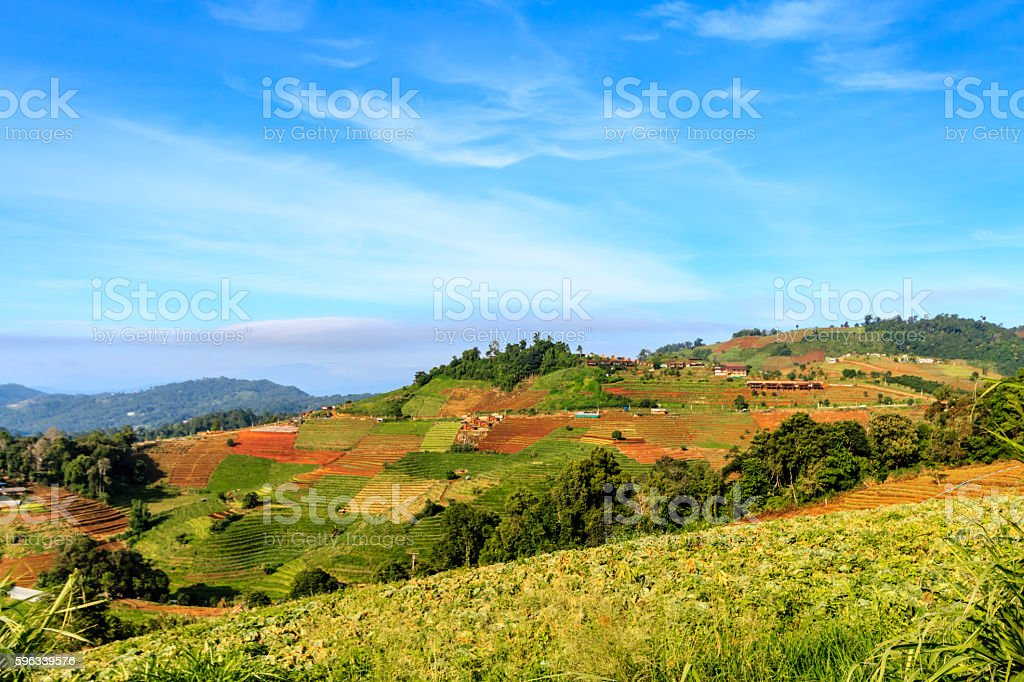 mountains view in the morning at chaingmai northern thailand Lizenzfreies stock-foto