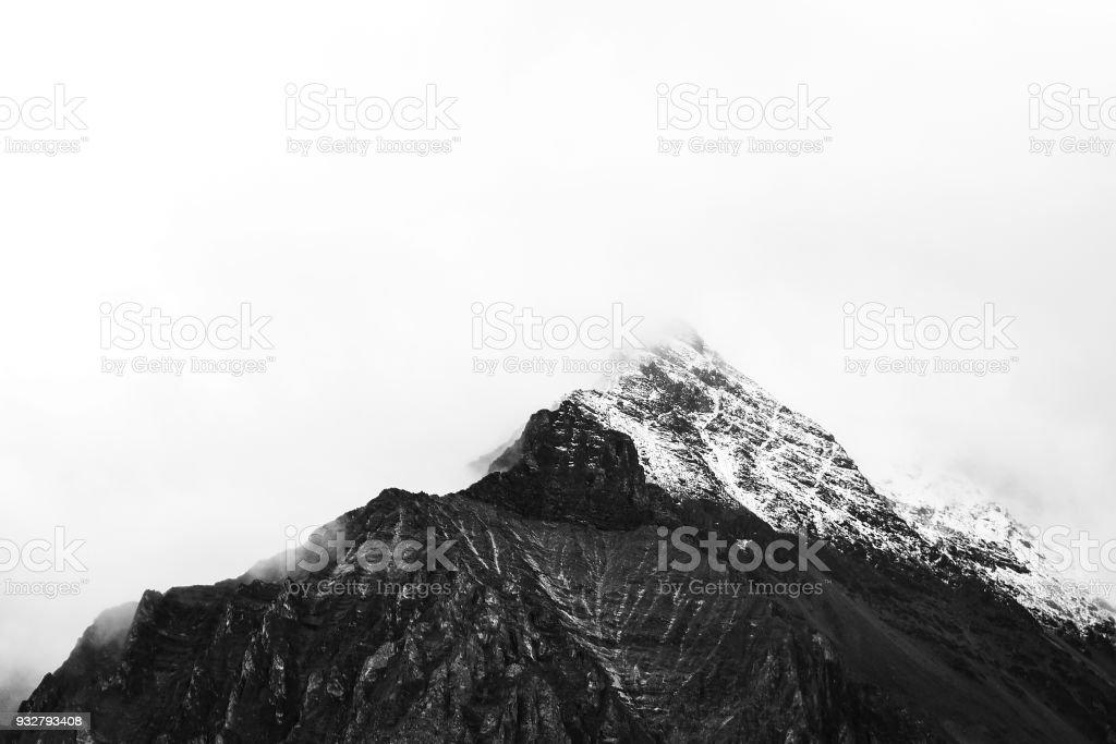 Vista de montanhas na reserva nacional de Yading - foto de acervo