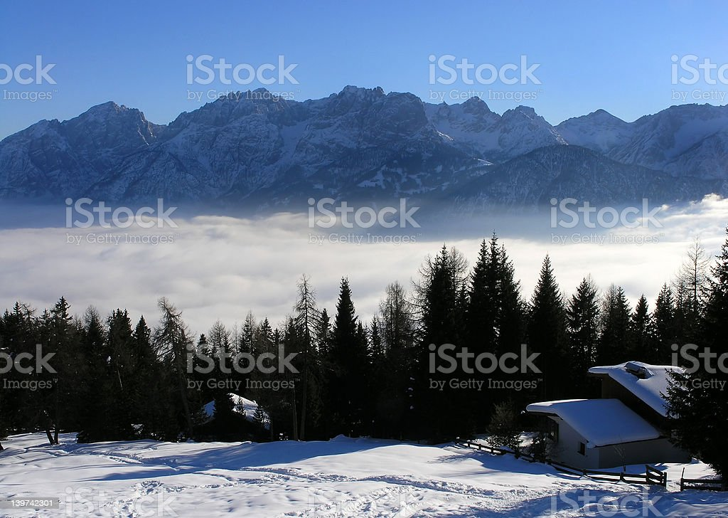 Mountains view royalty-free stock photo