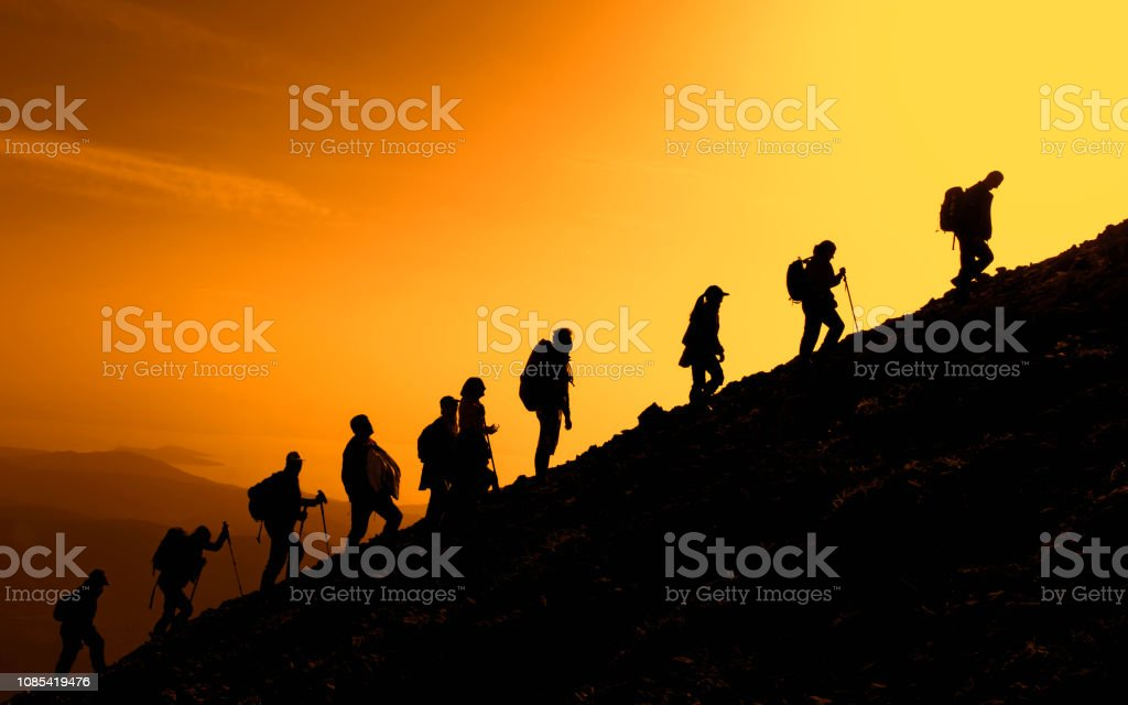 mountains will treat the people, make them healthy and vigorous stock photo