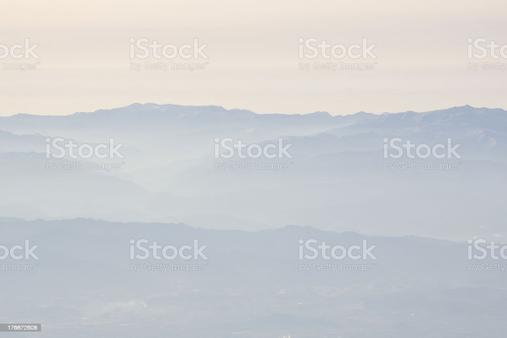 Mountains with fog royalty-free stock photo