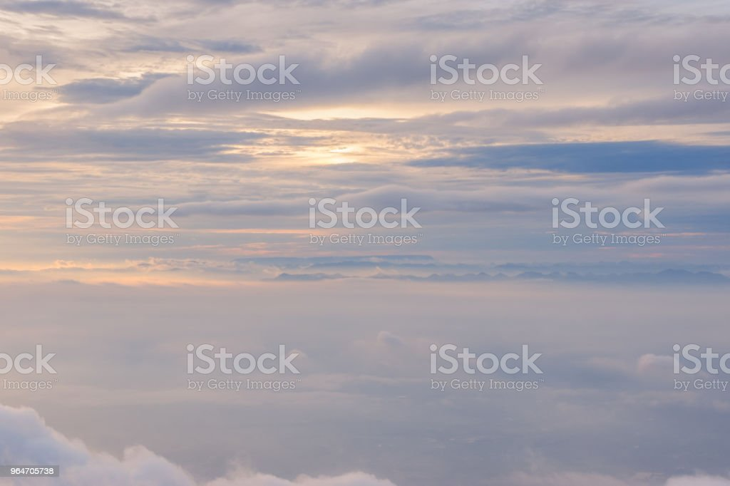mountains with mist royalty-free stock photo
