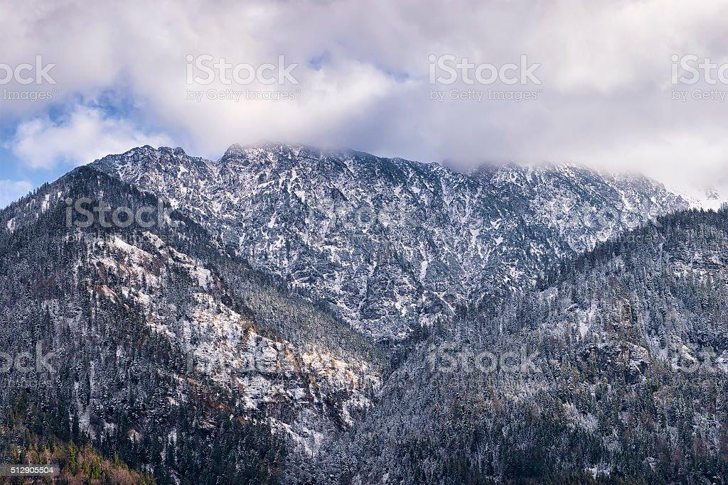 Mountains Zwolferkopf, Hohe Kiste and Zunderkopf stock photo