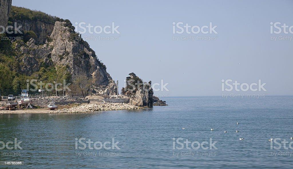 mountain&sea stok fotoğrafı