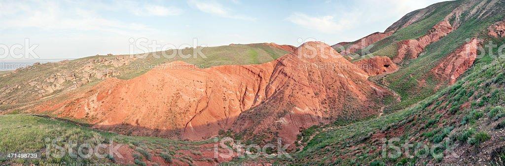 Mountainside 'Bolshoe Bogdo.' royalty-free stock photo