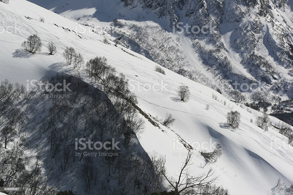 Mountainside dans le nord du Caucase, en Russie photo libre de droits