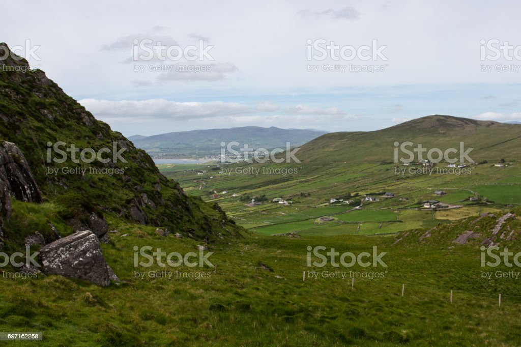 Mountaintop Cottages stock photo