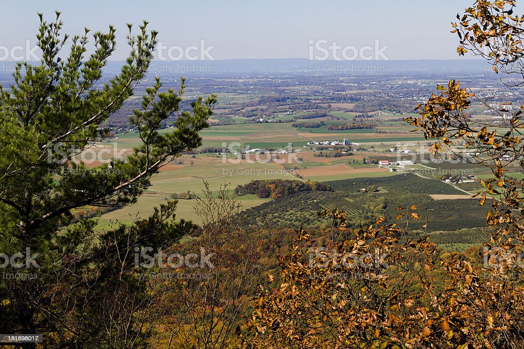 Mountaintop Valley View royalty-free stock photo