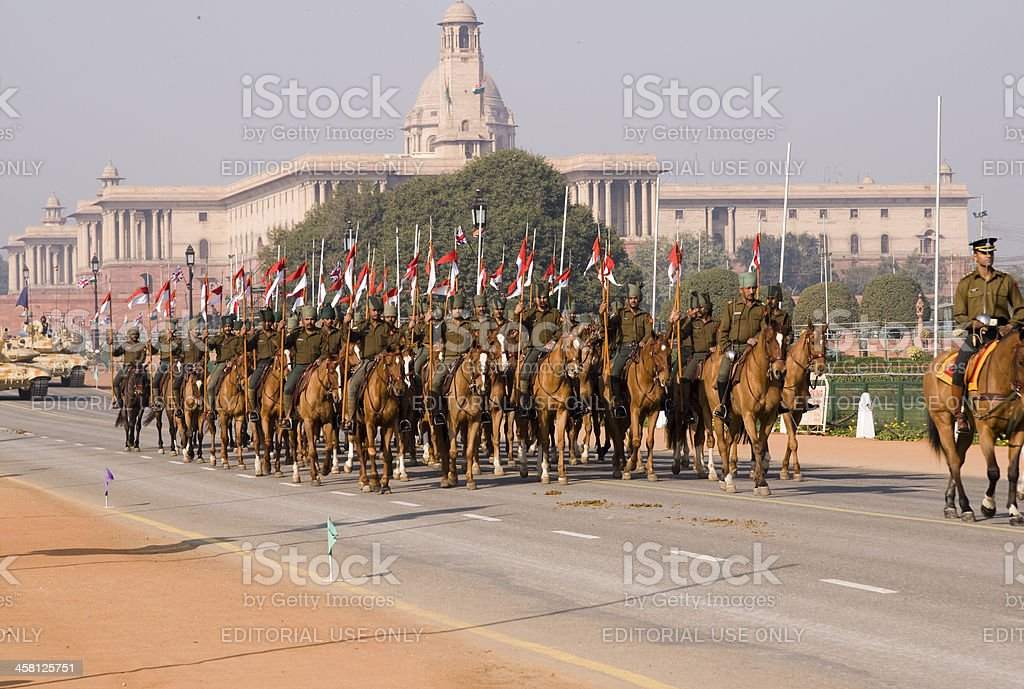 Mounted Cavalry of the Indian Army stock photo