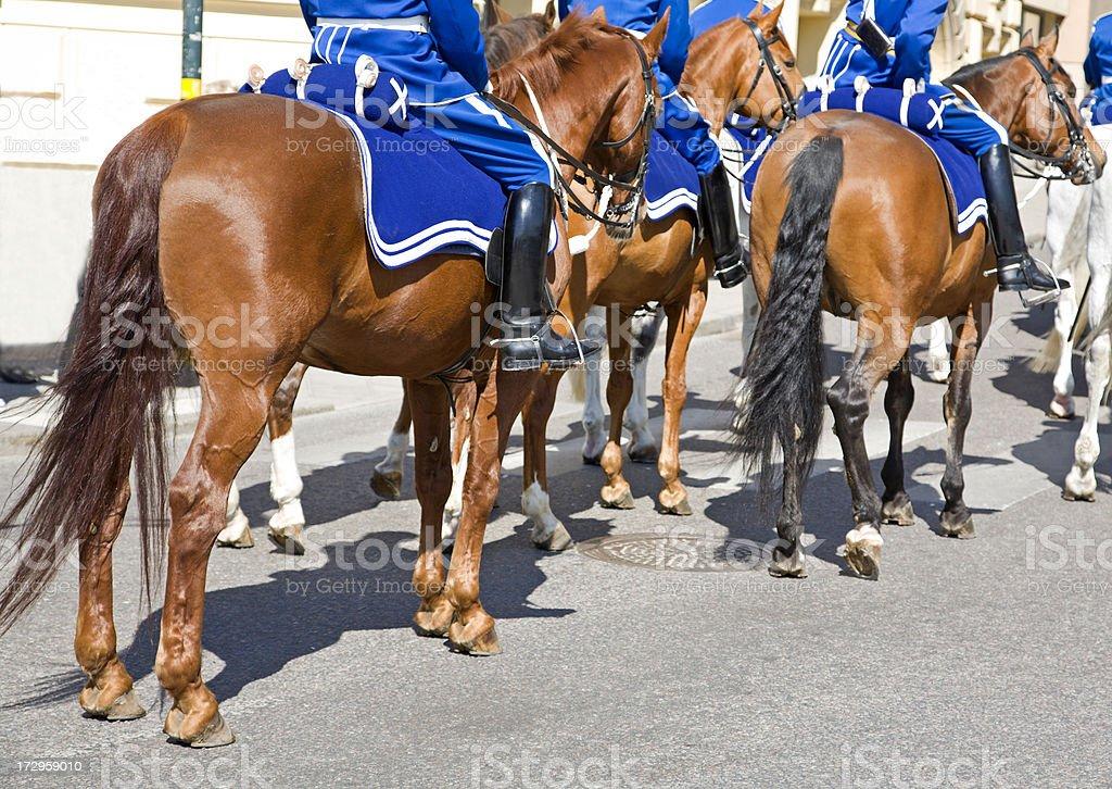 Mounted guard royalty-free stock photo