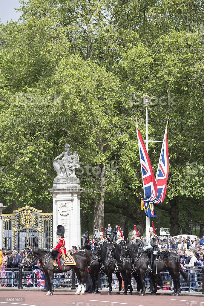 Mounted Horse Guards royalty-free stock photo