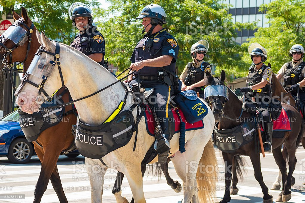 Mounted police stock photo