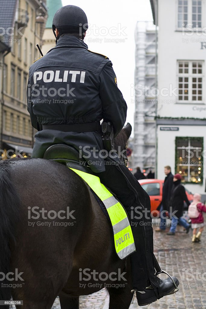 Mounted police royalty-free stock photo