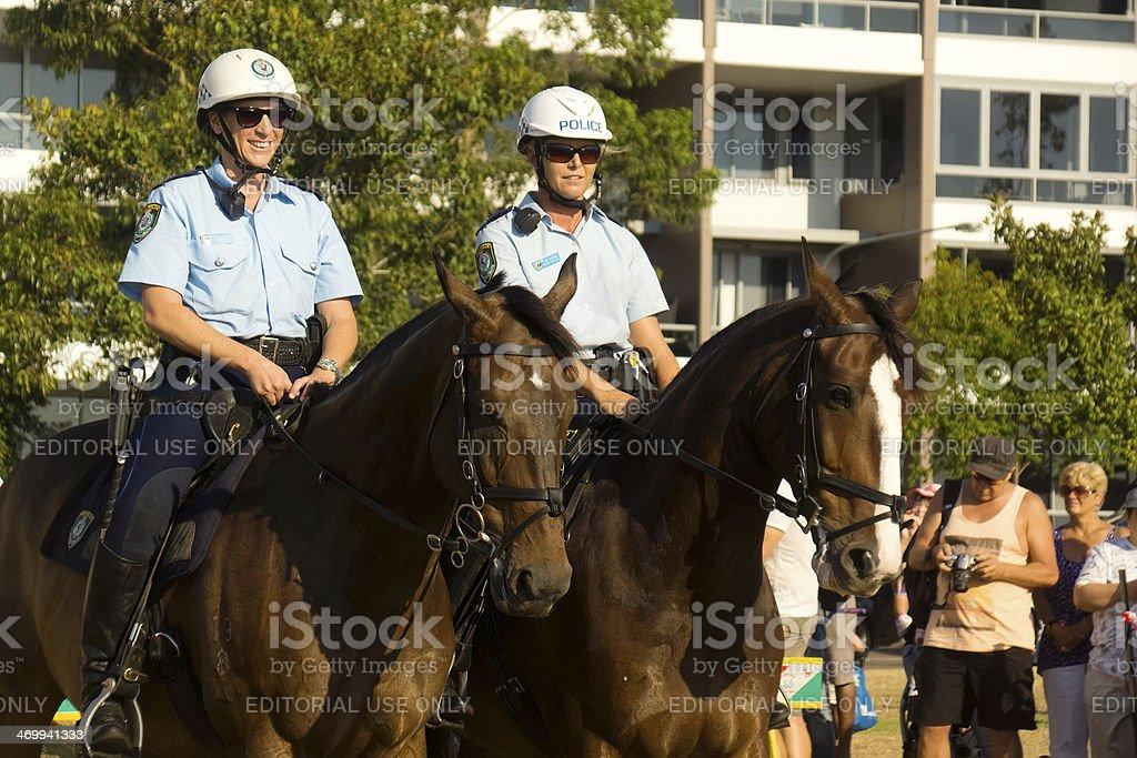 Mounted Police Unit stock photo