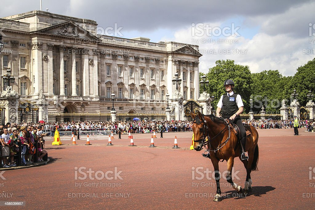 Mounted police woman. royalty-free stock photo