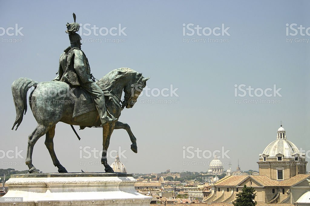 Mounted soldier royalty-free stock photo