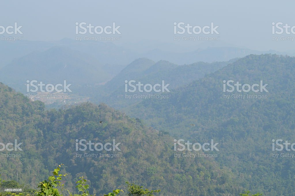 Mountian view at Khoa yai national park Thailand stock photo