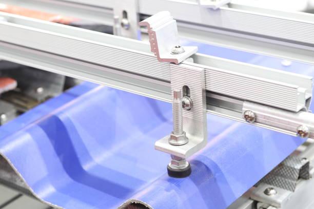 Montaje abrazadera del panel solar - foto de stock
