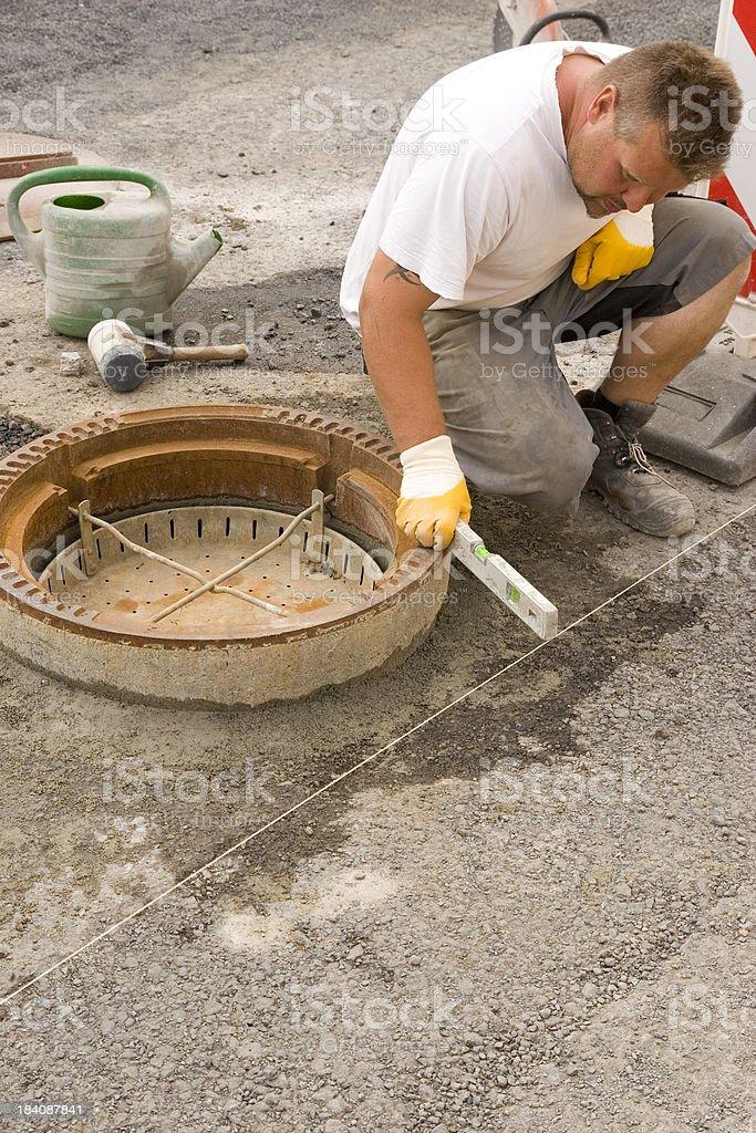 Mounting Manhole royalty-free stock photo