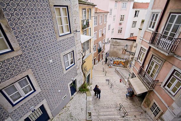 distrito mouraria - esplanada portugal imagens e fotografias de stock