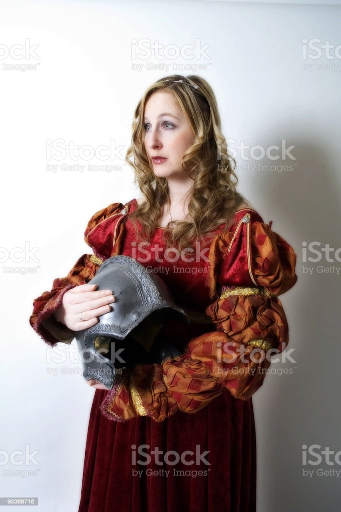 Mourning a Warrior stock photo