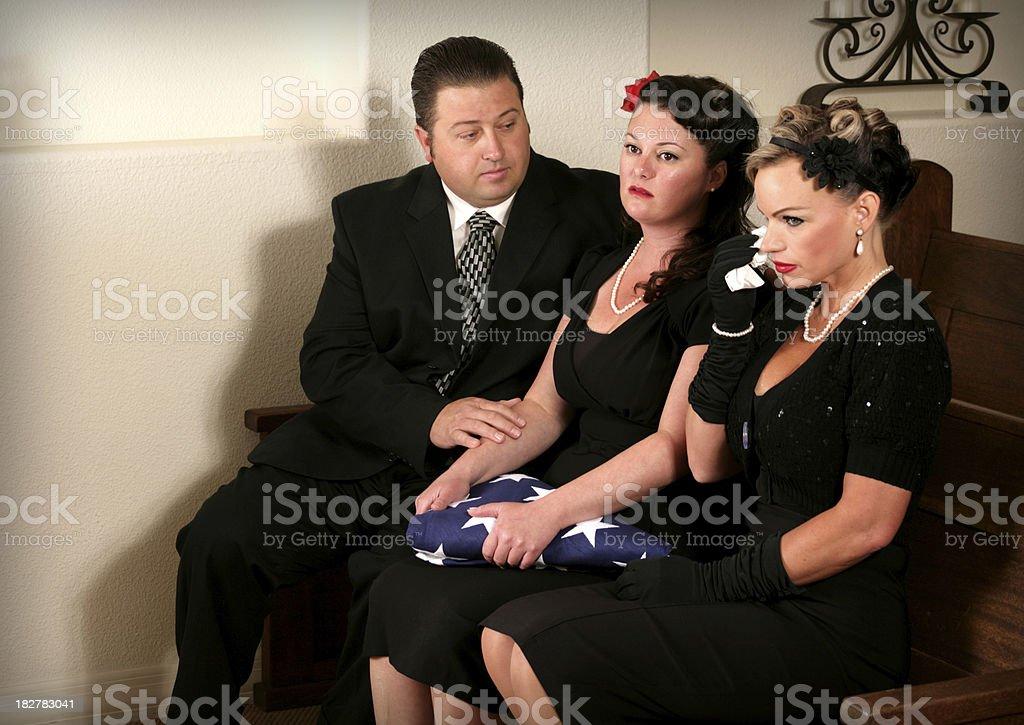 Mourning Family royalty-free stock photo