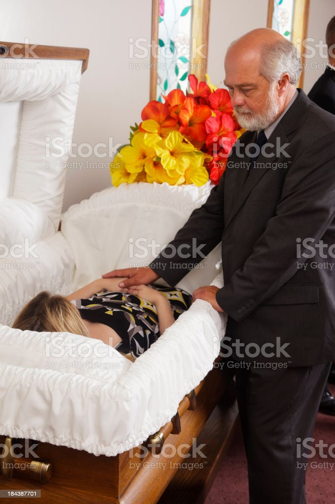 Mourning Father stock photo