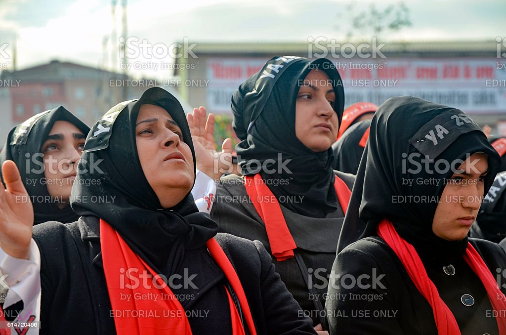Mourning of Muharram in Turkey stock photo