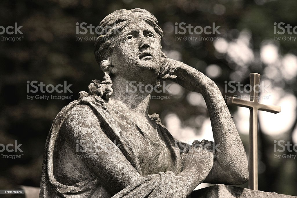 Mourning statue royalty-free stock photo