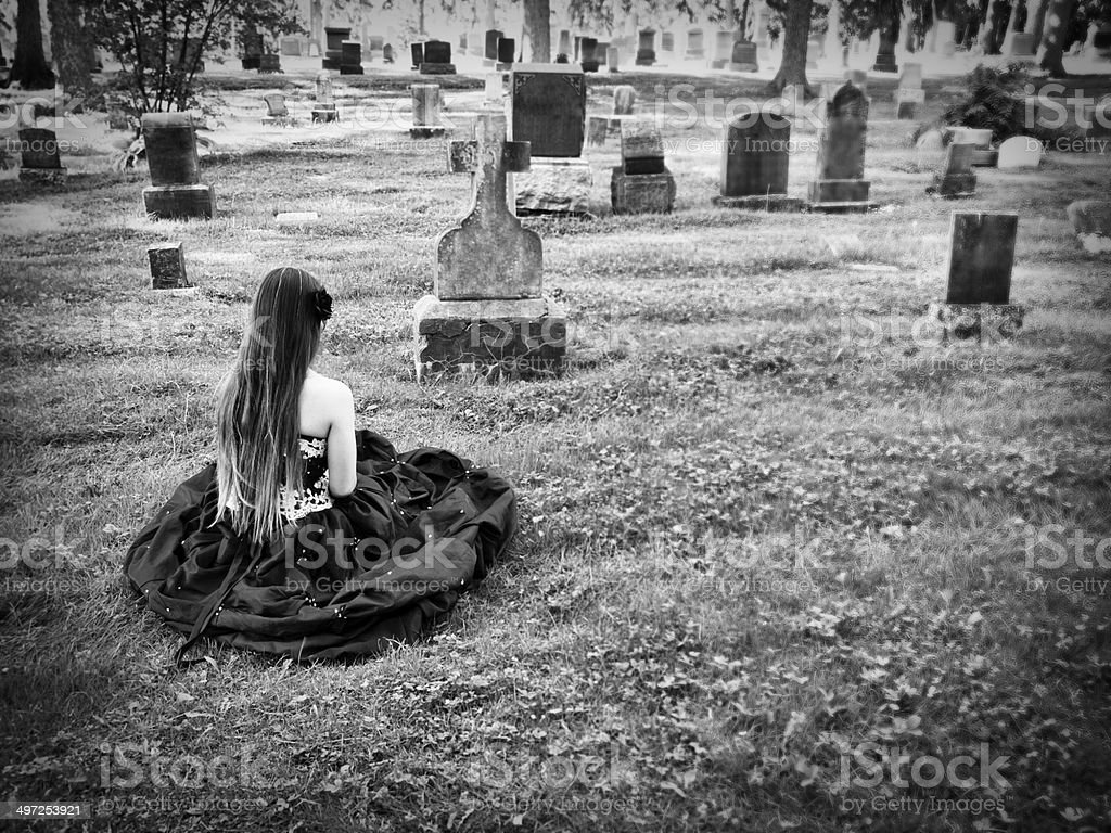 Mourning Woman royalty-free stock photo