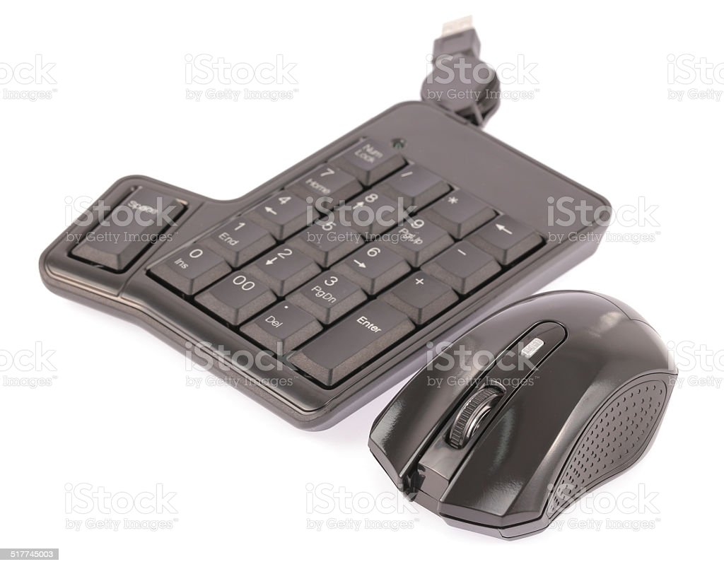 mouse and computer keyboard stock photo